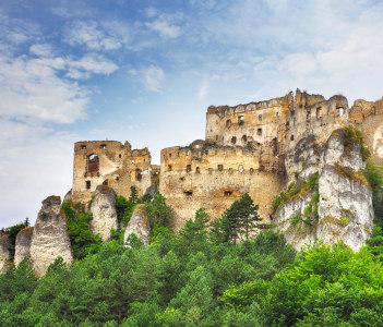 Ruin of castle Lietava in Slovakia