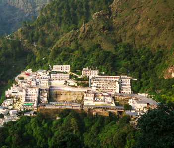 Vaishno Devi Temple dedicated to Hindu Goddess, Katra, Jammu and Kashmir