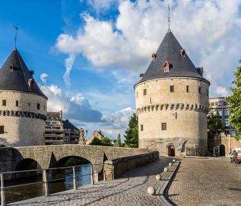 Medieval City Kortrijk Belgium