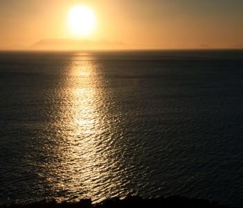 Sunset Over False Bay - Strand