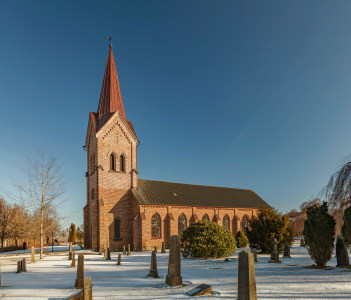 The parish church of Kallna in south Sweden