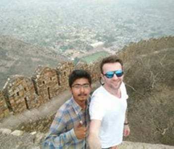 At one of the highest fort of Rajasthan of