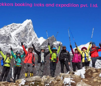 Trekkers happens after arrived destination