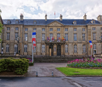 Town hall in Bayeux in Calvados department of Normandy, France