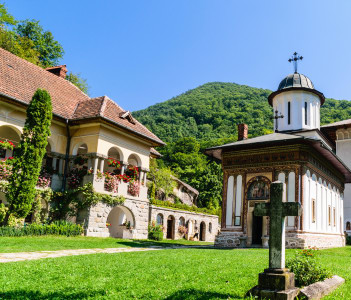 Church at Turnu Monastery in Calimanesti Romania