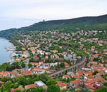 View of Ankaran city in Slovenia