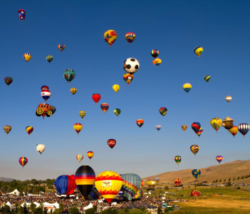 The Great Reno Balloon Race on September 6 2013 in Reno Nevada USA.