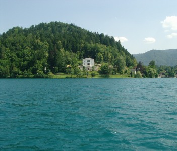 View of the Villa from the middle of the Lake