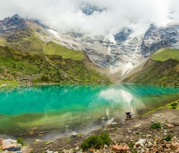Humantay lake in Peru on Salcantay mountain