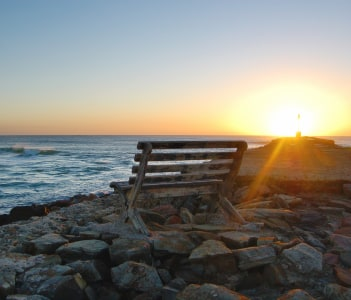 East Pier sunrise, Port Alfred, Eastern Cape, South Africa