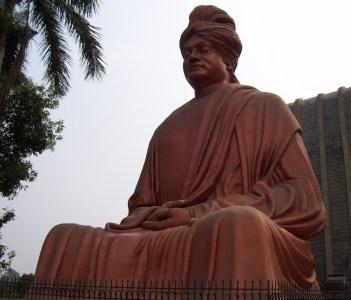 Copper color statue of Swami Vivekananda Raipur Chhattisgarh India