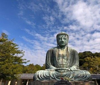 Big Buddha or Great Buddhism in Japan (Daibutsu) at Kamakura city