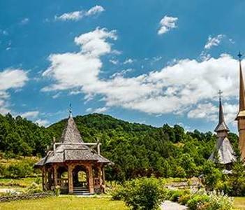Panorama of Barsana Monastery, Maramures County