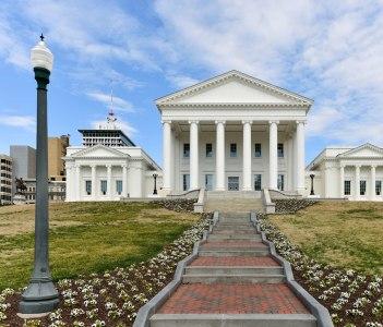 The Virginia State Capitol, Richmond Virginia.