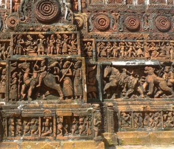 Terracotta decoration of Kantajhee Temple