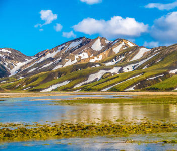 Landscapes of Landmannalaugar in the Fjallabak Nature Reserve Iceland