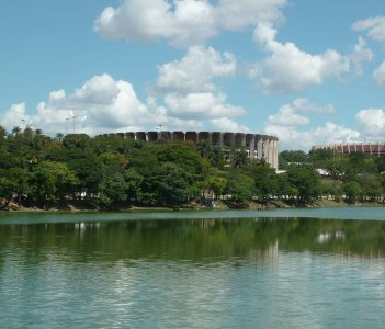 The football stadium of Belo Horizonte