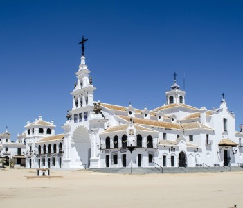 Hermitage Aldea del Rocio, Almonte, Huelva, Spain