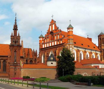 St. Anna's Church in Vilnius Lithuania. Summer time