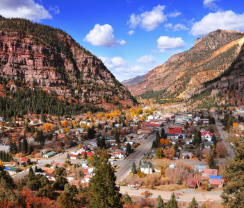 Beautiful Ouray city view, Colorado, USA