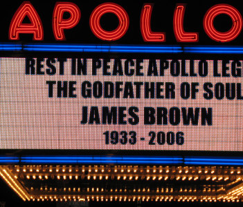 James Brown was brought back to the Apollo to Lay in State after his passing in 2006