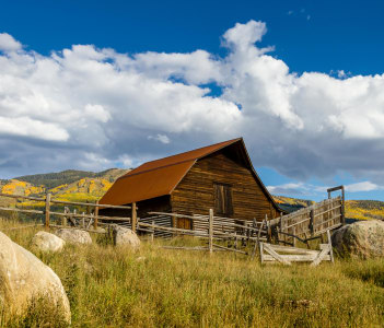 Historic Moore Barn in Steamboat Springs Colorado in USA