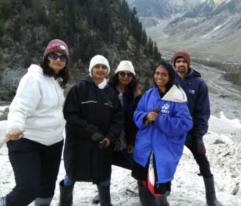 Family tour at Pahalgam