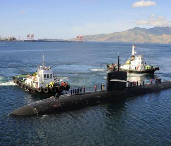 USS Bremerton moors in Subic Bay