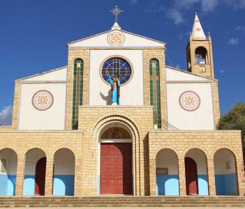 Cathedral, tourist attraction of Adigrat, Ethiopia, Africa