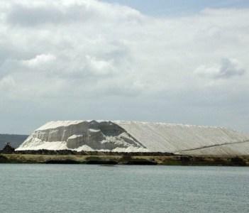 Salt near Salinas, Ecuador