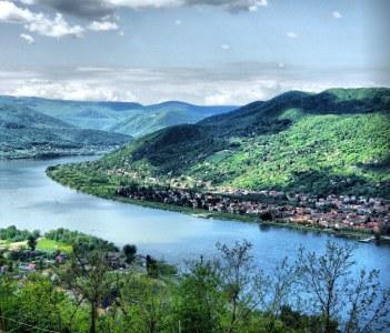 Danube bend from Visegrad Castle