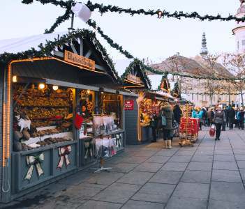 Klagenfurt christmas market in Klagenfurt Austria. Christmas in Europe.