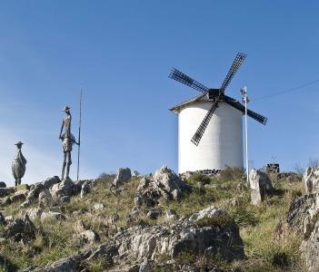 Monument to Don Quixote de la Mancha city of Tandil Argentina