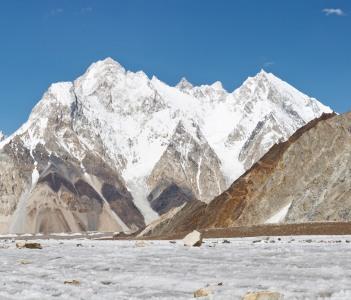 Broad Peak and Vigne Glacier Panorama, Karakorum, India