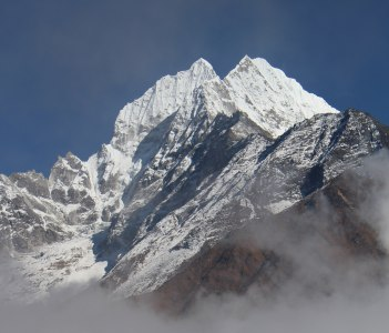Mt, Thamserku seen from Namche viewpoint