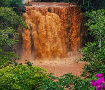 Chania Falls in Thika Kenya Africa