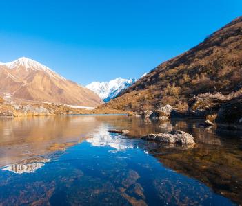 Langtang Himalayan Mountain range in Nepal