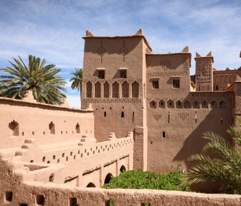 Amridil Kasbah (castle) in the oasis of Skoura Morocco