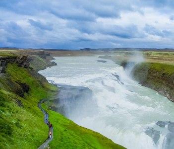 Gullfoss Golden Falls