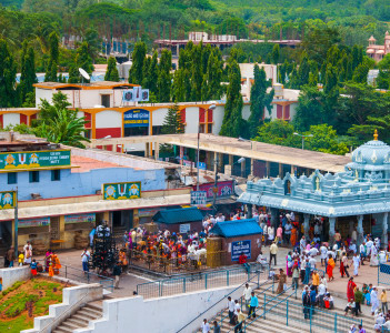 Devotees visit to Tirupati Balaji Temple or Venkateswara Temple, Andhra Pradesh, India