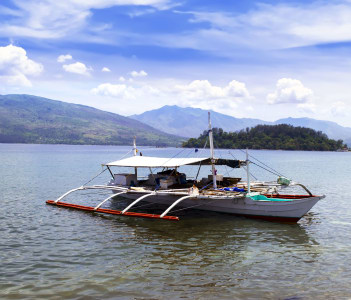 Philippines Fishing Boat near Olongapo City Subic Bay