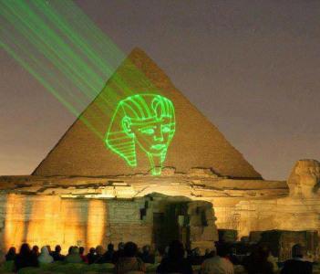 el luz y el sonido en las piramides