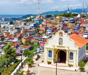 Church in the city of Guayaquil Ecuador on Santa Ana Hill