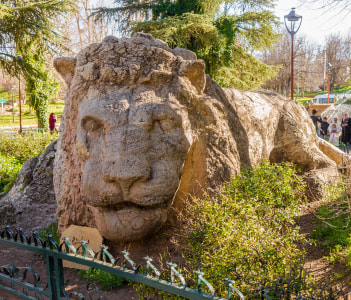 Sculpture of a lion, Ifrane Morocco
