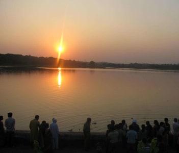 Futala (Telankhedi) Lake during Ganesh Visarjan