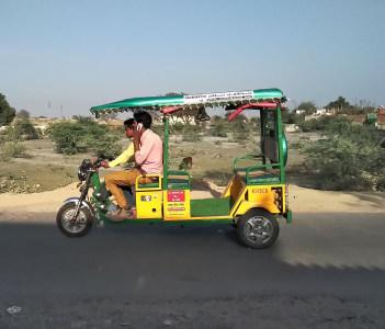 An man driving E rickshaw, Kanpur, India