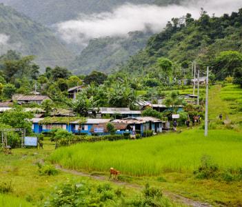 Besisahar village Nepal