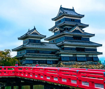 Matsumoto old and beautiful castle in Nagano Japan
