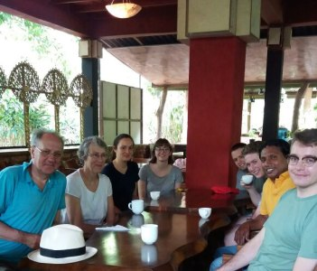 having tea with english family