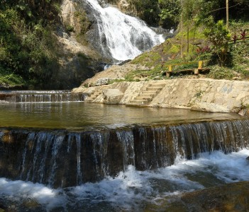 Waterfall of San Andres in Satipo